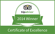Travelers Choice Award for 2014